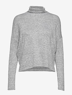 Luxespun Boxy T-Shirt - pulls col roulé - lt grey
