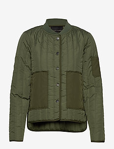 Water-Resistant Quilted Jacket - quiltede jakker - flight jacket