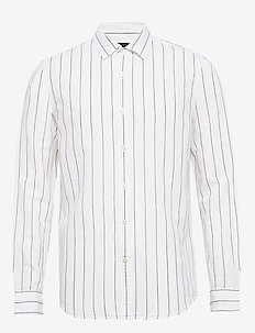 Untucked Slim-Fit Linen-Cotton Shirt - décontractées - wide stripe