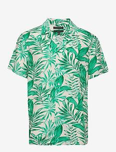 Slim Soft Camp Shirt - kortærmede skjorter - canopy green