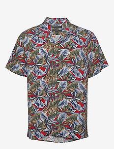 Slim Soft Camp Shirt - kortærmede skjorter - saucy red