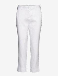Avery Straight-Fit Linen-Cotton Pant - bukser med lige ben - vwhite