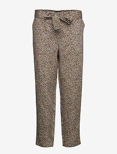 Leopard Print TENCEL™ Pant - raka byxor - black/leopard