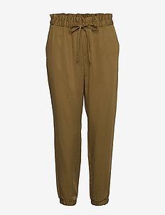 TENCEL™ Paperbag Jogger - bukser med lige ben - cindered olive