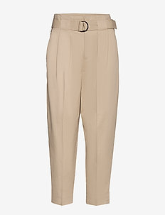High-Rise Tapered Cropped Pant - pantalons casual - stinson sand