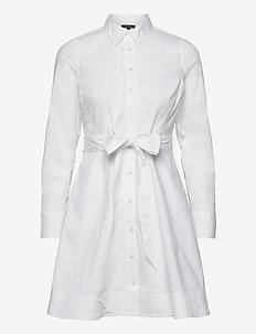 Poplin Shirt Dress - skjortekjoler - white