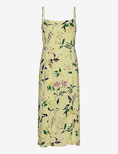 ECOVERO™ Square-Neck Midi Dress - midi kjoler - yellow floral