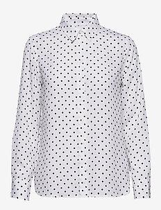 Dillon Classic-Fit Shirt - chemises à manches longues - navy dot