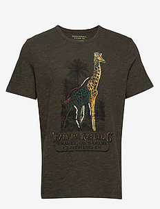 Giraffe Graphic T-Shirt - logo t-shirts - green heather