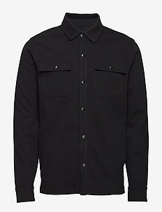 Twill Shirt Jacket - BLACK
