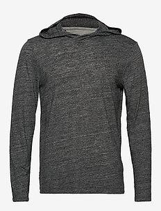 Vintage Hoodie T-Shirt - basic sweatshirts - black