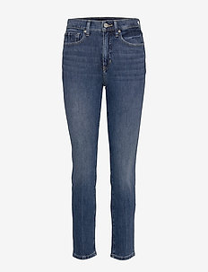 High-Rise Slim Ankle Jean - slim jeans - medium wash