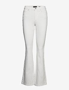 High-Rise Flare Jean - flared jeans - vwhite