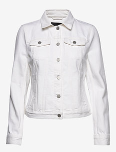 Denim Trucker Jacket - vestes en jean - vwhite