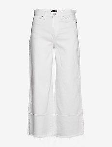 High-Rise Wide-Leg Cropped Jean - hosen mit weitem bein - vwhite