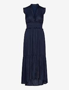 Soft Satin Maxi Dress - robes maxi - navy