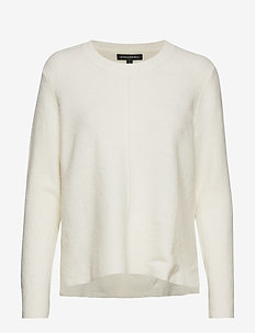 Merino-Blend Center-Seam Sweater - pulls - ivory