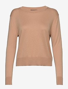 Silk-Cotton Cropped Sweater - pulls - blush