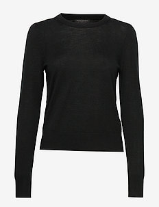 Washable Merino Puff-Sleeve Sweater - pulls - black