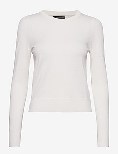 Washable Merino Puff-Sleeve Sweater - pulls - ivory