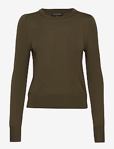 Washable Merino Puff-Sleeve Sweater - pulls - olive