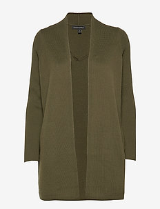 Merino-Blend Long Cardigan Sweater - gilets - olive