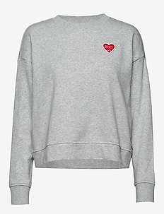 I LOGO PATCH SWEATSHIRT - LT GREY