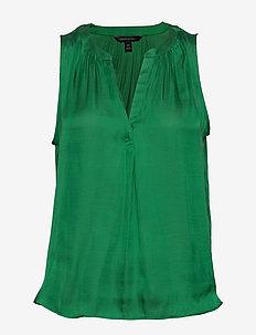 Soft Satin Tank - Ærmeløse bluser - hula green