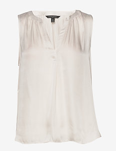 Soft Satin Tank - blouses sans manches - snow day
