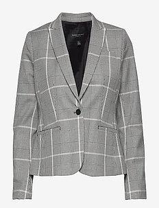 Classic-Fit Washable Bi-Stretch Blazer - tailored blazers - charcoal glenplaid