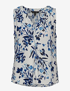 ECOVERO™ Sleeveless Top - blouses sans manches - blue floral