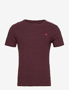 I LOGO SOFTWASH ORGANIC TEE - basic t-shirts - maroon htr hb414