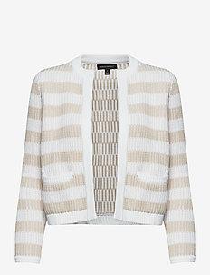 Jacquard Sweater Jacket - swetry rozpinane - white stripe
