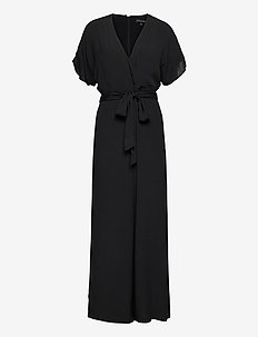 Dolman-Sleeve Jumpsuit - jumpsuits - black k-100