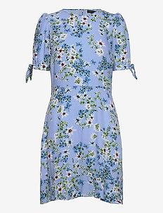 ECOVERO™ Puff-Sleeve Dress - short dresses - light blue romantic fl