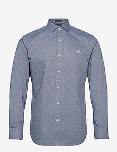I CA LOGO NI DOBBY - checkered shirts - elysian blue