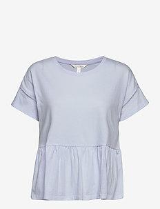 I SS PEPLUM TEE - short-sleeved blouses - crisp blue