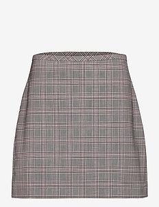 Washable Wool-Blend Mini Skirt - jupes midi - pink plaid