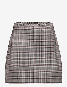 Washable Wool-Blend Mini Skirt - midi skirts - pink plaid