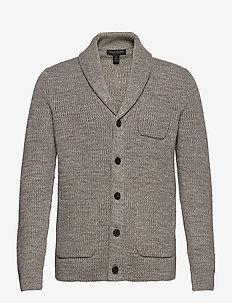 SUPIMA® Cotton Cardigan Sweater - cardigans - grey marl