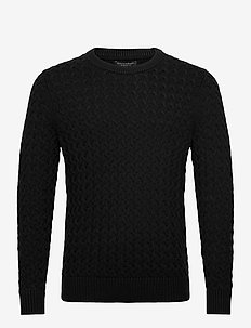 SUPIMA® Cable-Knit Sweater - basic knitwear - black