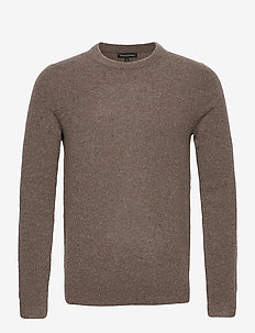 Wool-Blend Crew-Neck Sweater - basic knitwear - soft taupe