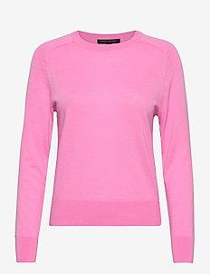 Washable Merino Crew-Neck Sweater - jumpers - miami pink