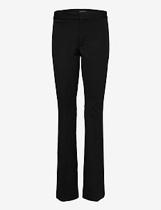 High-Rise Flare Sloan Pant - straight leg trousers - br black
