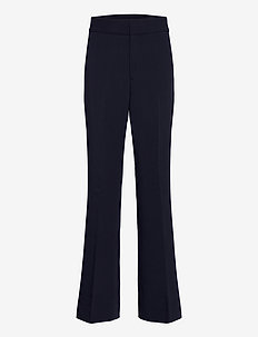 High-Rise Flare Pant - straight leg trousers - navy