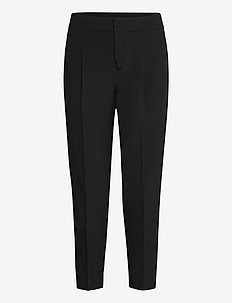 Performance Stretch Pleated Pant - broeken med straight ben - br black