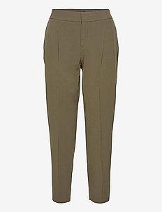 Performance Stretch Pleated Pant - straight leg trousers - splendid green