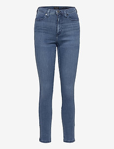 High-Rise Legging Jean with Ankle Zips - skinny jeans - medium wash