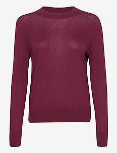 Silk Cashmere Relaxed Sweater - truien - classic burgundy