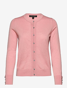 Merino Cardigan Sweater in Responsible Wool - cardigans - blush